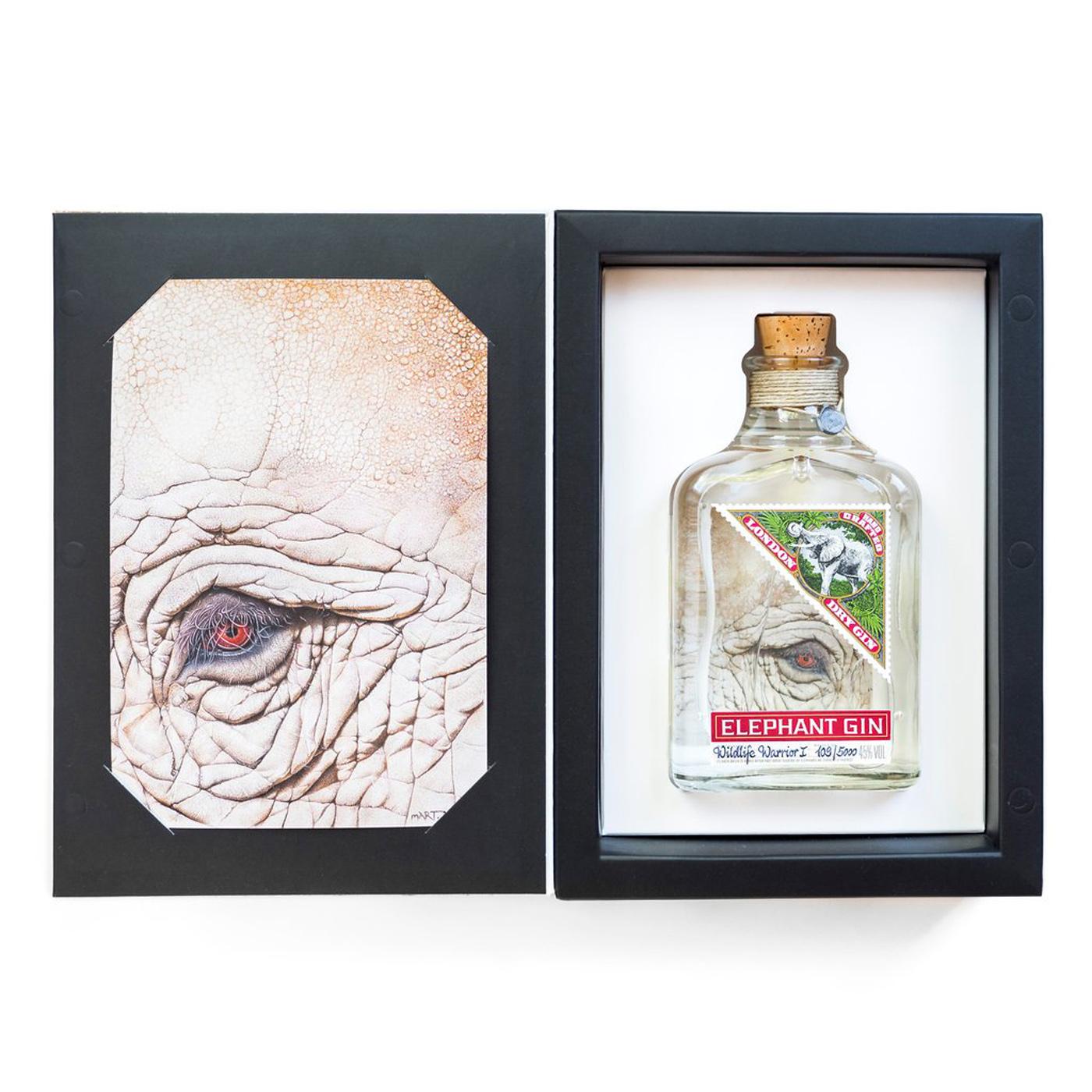 Elephant London Dry Gin- Wildlife Warrior- Limited Art Edition